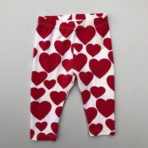 Gap | baby girl heart leggings 6-12M